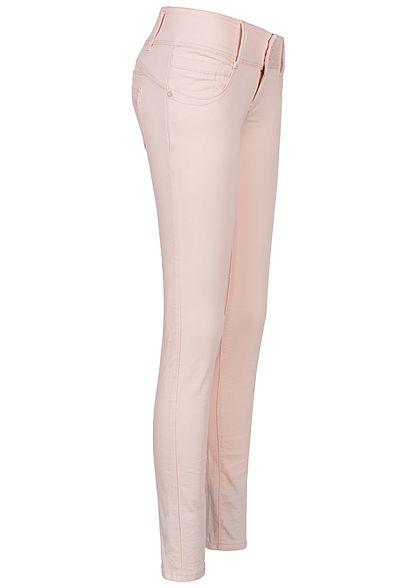 Seventyseven Lifestyle Damen Skinny Jeans 4- Pockets rosa denim