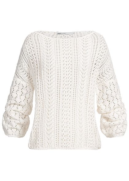 ONLY Damen Knit Sweater cloud dancer weiss