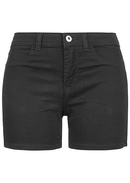 JDY by ONLY Damen Jeans Shorts 2-Pockets schwarz denim