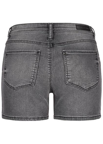 JDY by ONLY Damen Jeans Shorts 2-Pockets dunkel grau denim