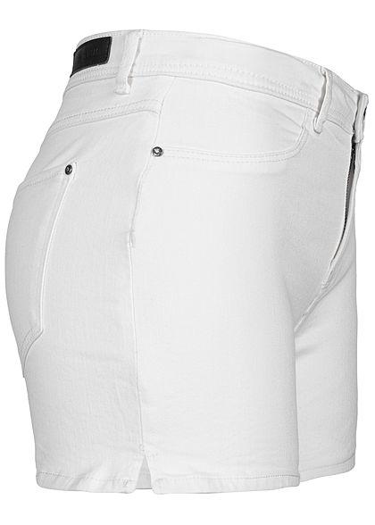 JDY by ONLY Damen Jeans Shorts 2-Pockets weiss denim