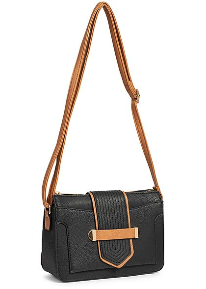 Styleboom Fashion Damen Cross Body Bag schwarz braun