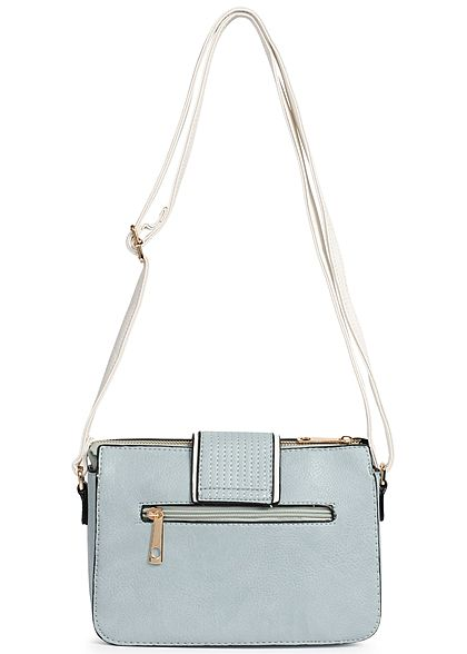Styleboom Fashion Damen Cross Body Bag hell blau weiss