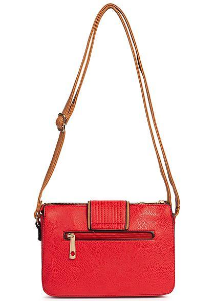 Styleboom Fashion Damen Cross Body Bag rot braun