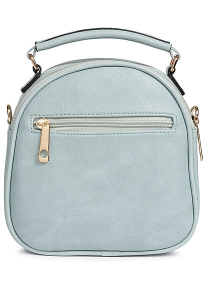 Styleboom Fashion Damen Handheld Bag Stitches hell blau türkis