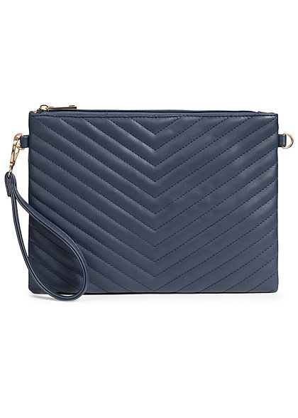 Styleboom Fashion Damen Cross Body Bag Stitches dunkel navy blau