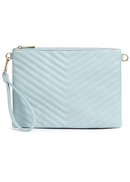 Styleboom Fashion Damen Cross Body Bag Stitches hell blau türkis
