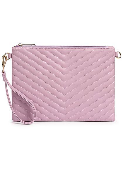 Styleboom Fashion Damen Cross Body Bag Stitches lila