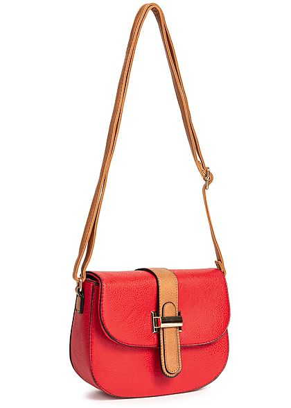 Styleboom Fashion Damen Cross Body Bag rot braun