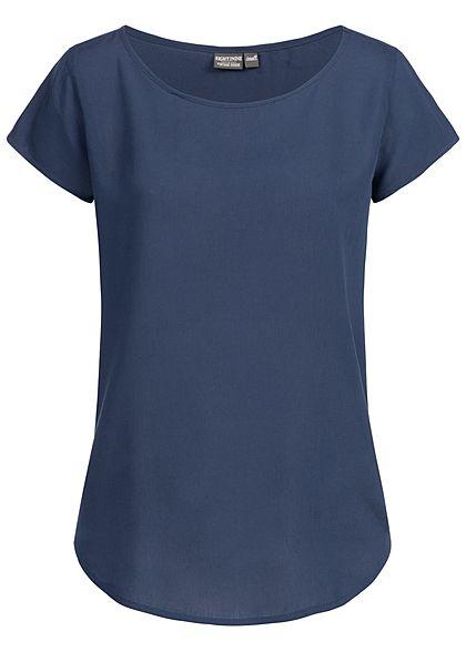 Eight2Nine Damen Blouse Shirt navy dunkel blau