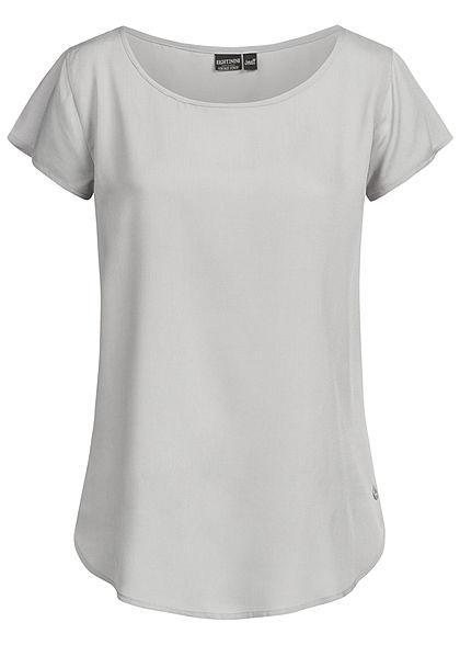 Eight2Nine Damen Blouse Shirt hell grau