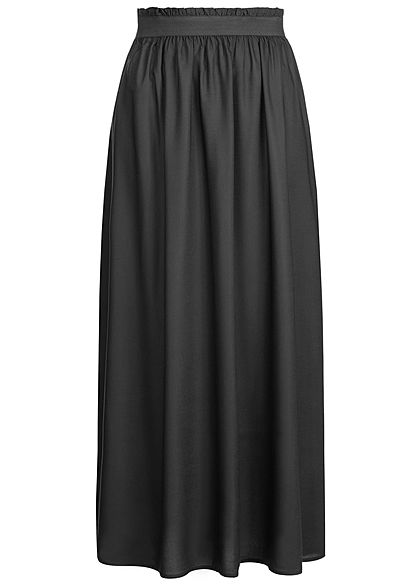 ONLY Damen Paper-Bag Longform Skirt NOOS schwarz