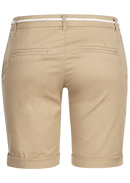 ONLY Damen Chino Belt Shorts 2-Pockets NOOS nomad beige