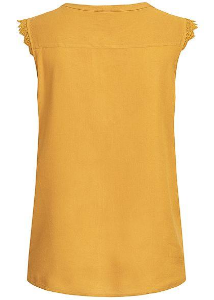 ONLY Damen Crochet Blouse Top NOOS harvest gold gelb