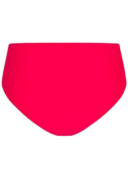 Hailys Damen High-Waist Bikini Slip neon rot