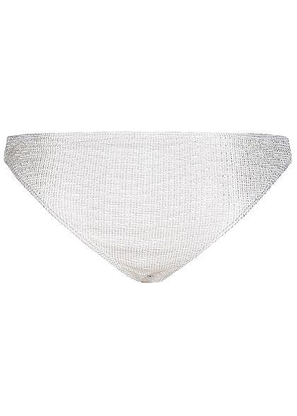 Hailys Damen Bikini Slip silber