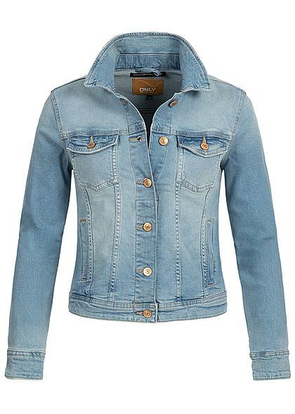 782e0f8ffee94b ONLY Damen Jeans Jacket 2 Breast Pockets NOOS hell blau denim - 77onlineshop