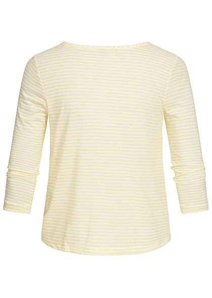 ONLY Damen 3/4 Sleeves Wrap Shirt popcorn gelb weiss