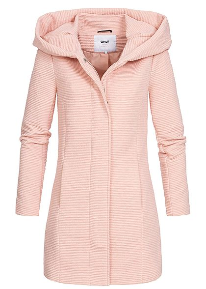 ONLY Damen Ripped Spring Coat 2-Pockets smoke rosa