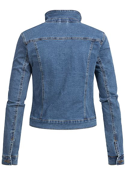 Vero Moda Damen Jeans Jacket 2 Breast Pockets NOOS medium blau denim