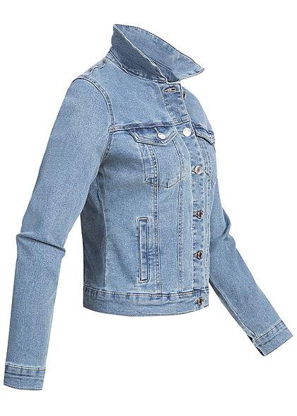 Vero Moda Damen NOOS Jeans Jacke 2 Brusttaschen hell blau denim