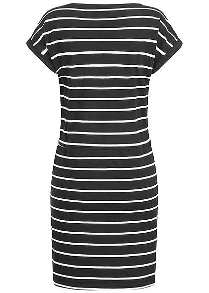 ONLY Damen Striped T-Shirt Dress NOOS schwarz weiss