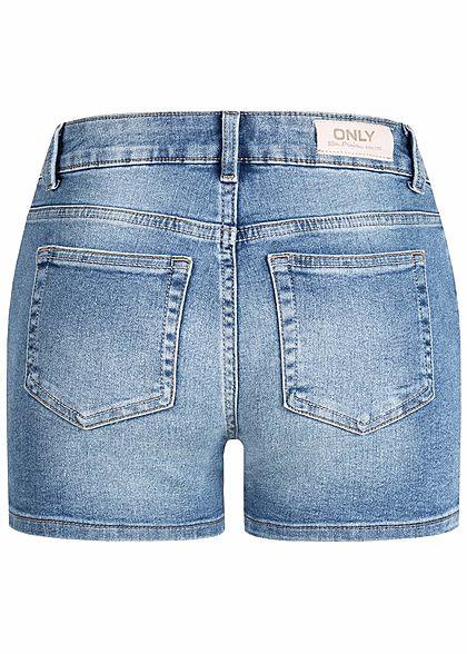 ONLY Damen Denim Shorts 5-Pockets Regular Waist NOOS hell blau denim