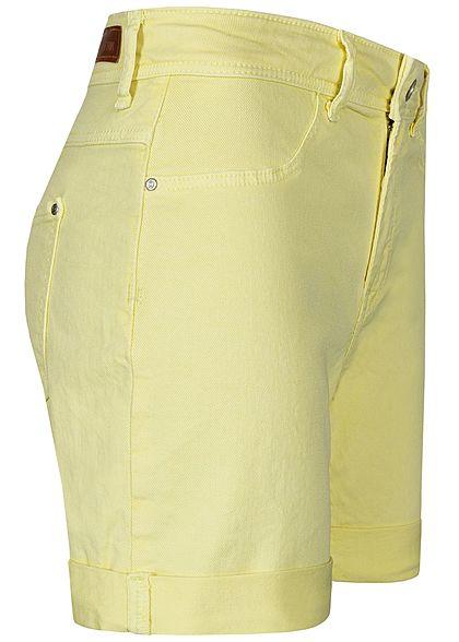 JDY by ONLY Damen Jeans Shorts 2-Pockets mellow gelb denim