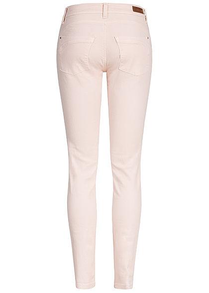 JDY by ONLY Damen Push-Up Skinny Jeans 2-Pockets Regular Waist shell rosa