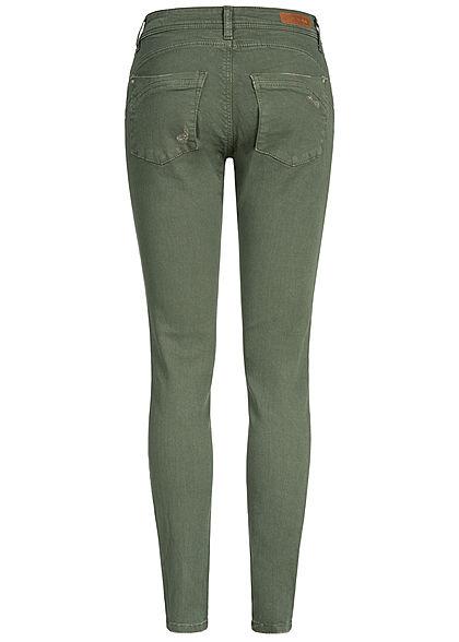 JDY by ONLY Damen Push-Up Skinny Jeans 2-Pockets Regular Waist thyme grün