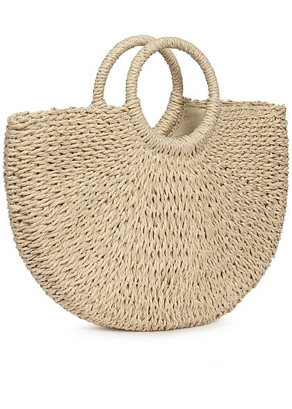 Hailys Damen Basket Handheld Bag hell beige