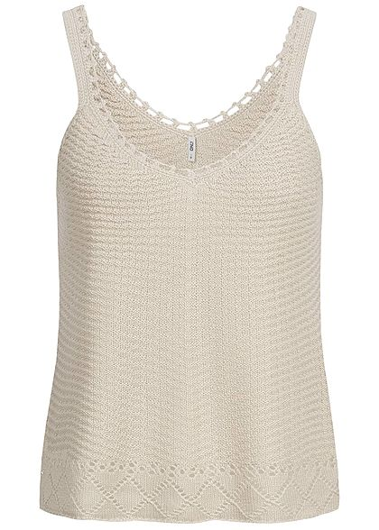 ONLY Damen Knitted Top pumice stone beige