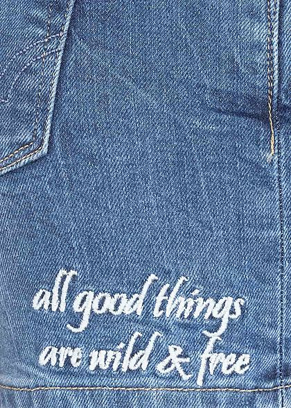 ONLY Damen Jeans Shorts 5-Pockets hell blau denim