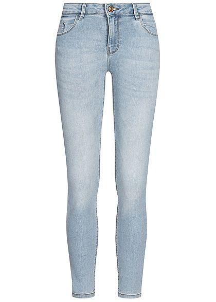 größter Rabatt Sonderkauf Kauf echt ONLY Damen Ankle Skinny Jeans Push-Up 5-Pockets Regular Waist hell blau  denim