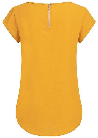 ONLY Damen Solid Blouse Shirt Zipper NOOS golden gelb