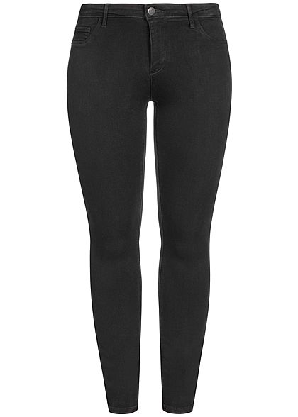 ONLY Carmakoma Damen NOOS Curvy Push-Up Skinny Jeans 5-Pockets schwarz denim