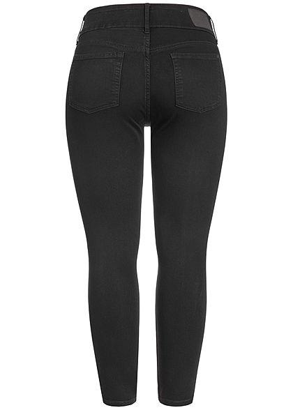 ONLY Carmakoma Damen Curvy Ankle Skinny Jeans 4-Pockets High Waist schwarz denim