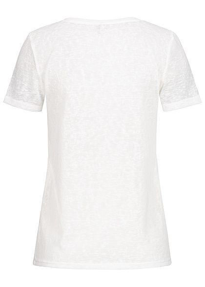 ONLY Damen T-Shirt Flamingo Print Diamonds and Pearls cloud dancer weiss
