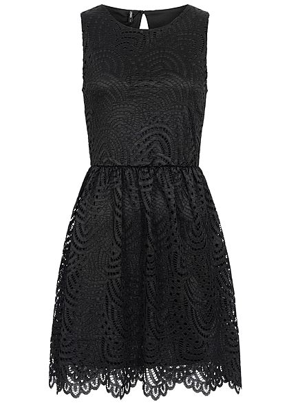 ONLY Damen 2-Layer Mini Dress NOOS schwarz