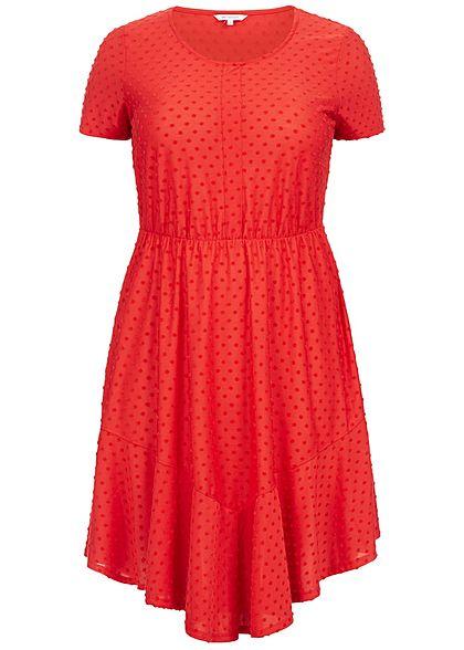 ONLY Carmakoma Damen Curvy Dots Dress high risk rot