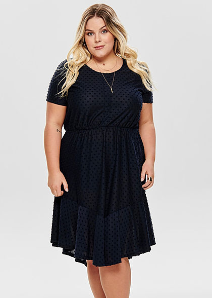 ONLY Carmakoma Damen Curvy Dots Dress night sky navy blau