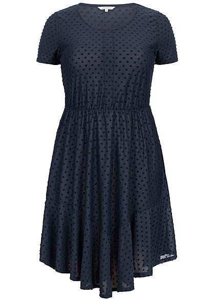 ONLY Carmakoma Damen Curvy Dots Dress night sky navy blau