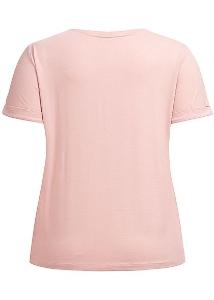 ONLY Carmakoma Damen Curvy T-Shirt pale mauve rosa