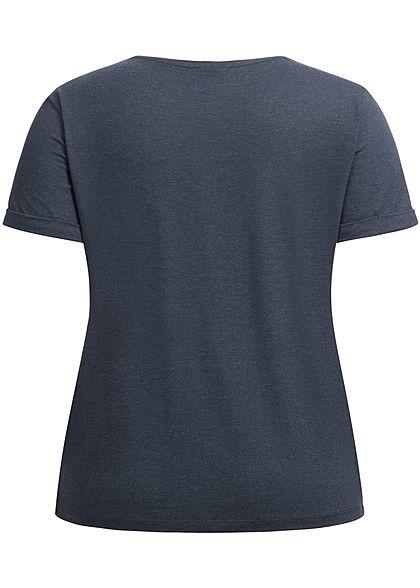 ONLY Carmakoma Damen Curvy T-Shirt night sky navy blau