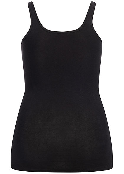 ONLY Carmakoma Damen Curvy Basic Tank Top schwarz