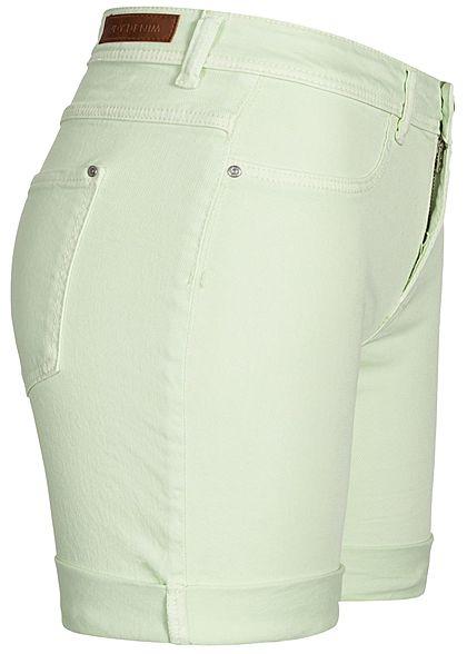 JDY by ONLY Damen Jeans Shorts 2-Pockets milky grün denim