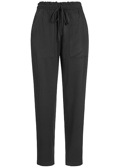 JDY by ONLY Damen Paper-Bag Trousers 2-Pockets schwarz