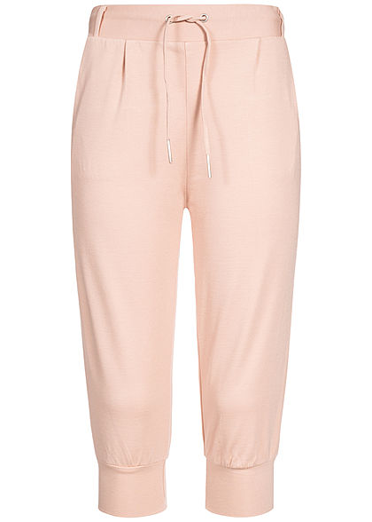 Hailys Damen 3/4 Sweat Trousers 2-Pockets rosa