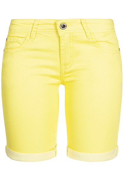 Hailys Damen Jeans Shorts 5-Pockets gelb denim