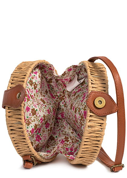 Hailys Damen Circle Basket Bag taupe beige braun